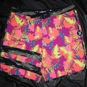 Hurley Mens Board Shorts Swim Trunks Size 38